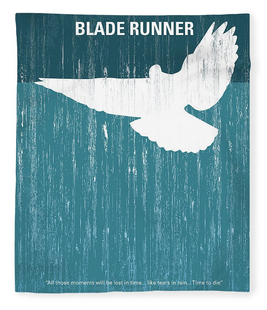 Blade Fleece Blanket featuring the digital art No011 My Blade Runner minimal movie poster by Chungkong Art