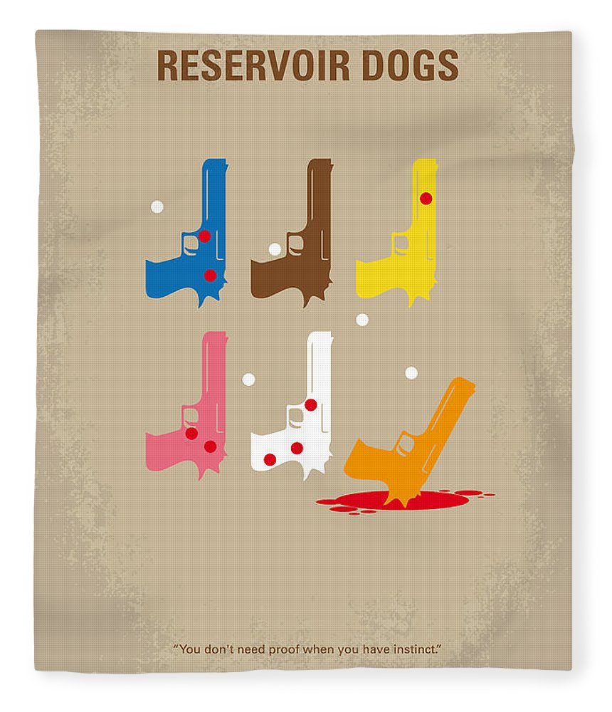 Reservoir Fleece Blanket featuring the digital art No069 My Reservoir Dogs minimal movie poster by Chungkong Art