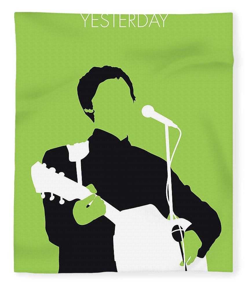 Paul Fleece Blanket featuring the digital art No076 MY PAUL MCCARTNEY Minimal Music poster by Chungkong Art