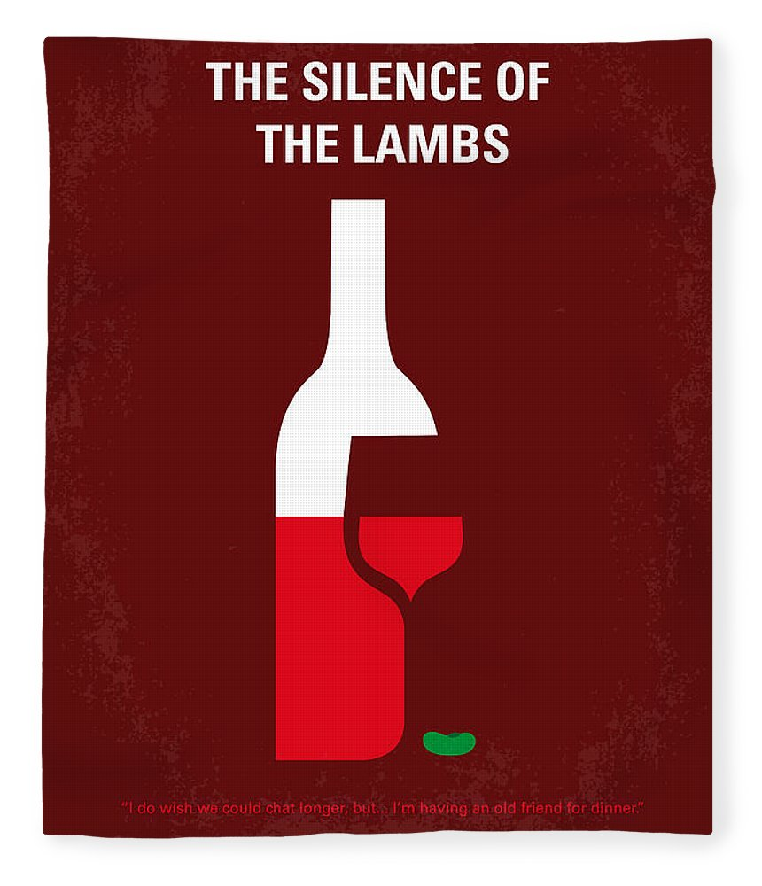Silence Fleece Blanket featuring the digital art No078 My Silence Of The Lamb Minimal Movie Poster by Chungkong Art