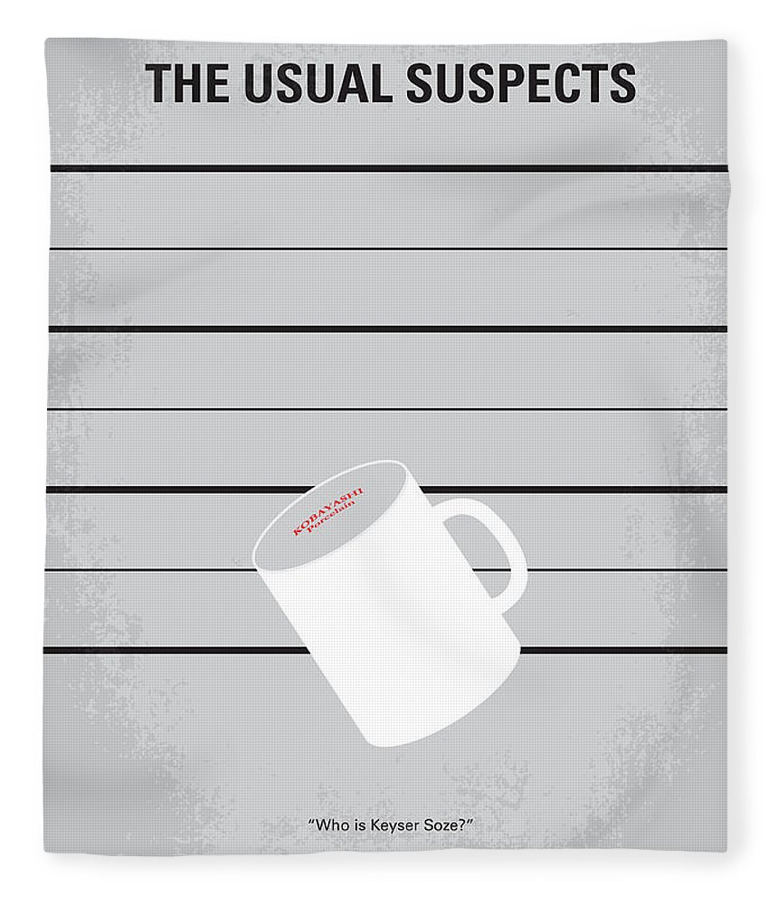 Usual Fleece Blanket featuring the digital art No095 My The Usual Suspects Minimal Movie Poster by Chungkong Art