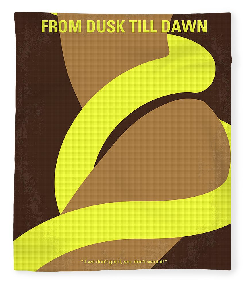 From Fleece Blanket featuring the digital art No127 My From Dusk This Dawn Minimal Movie Poster by Chungkong Art