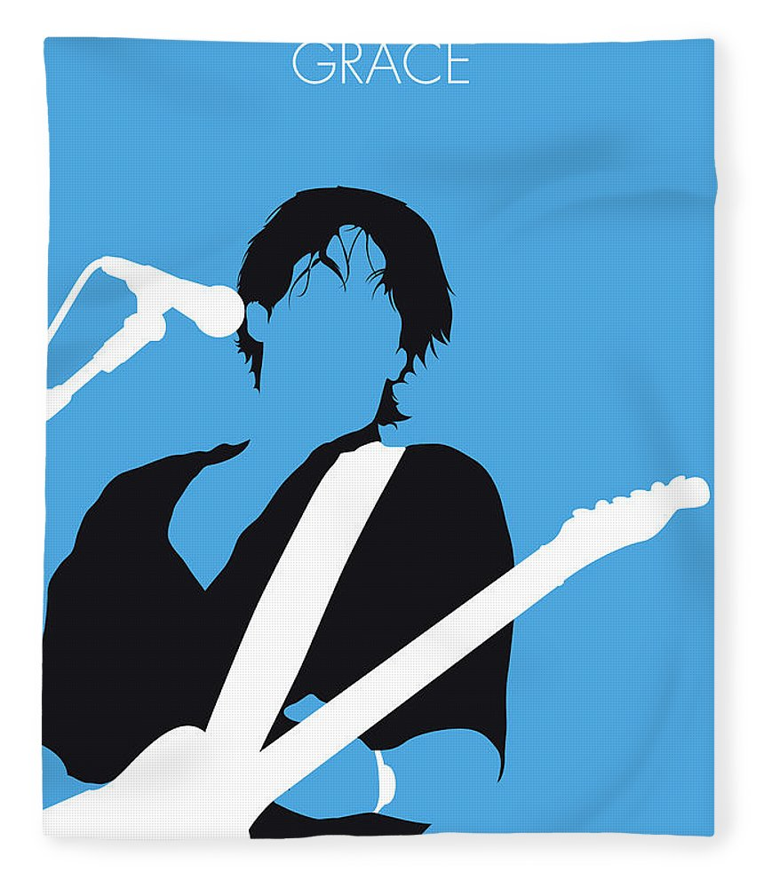 Jeff Fleece Blanket featuring the digital art No129 My Jeff Buckley Minimal Music Poster by Chungkong Art