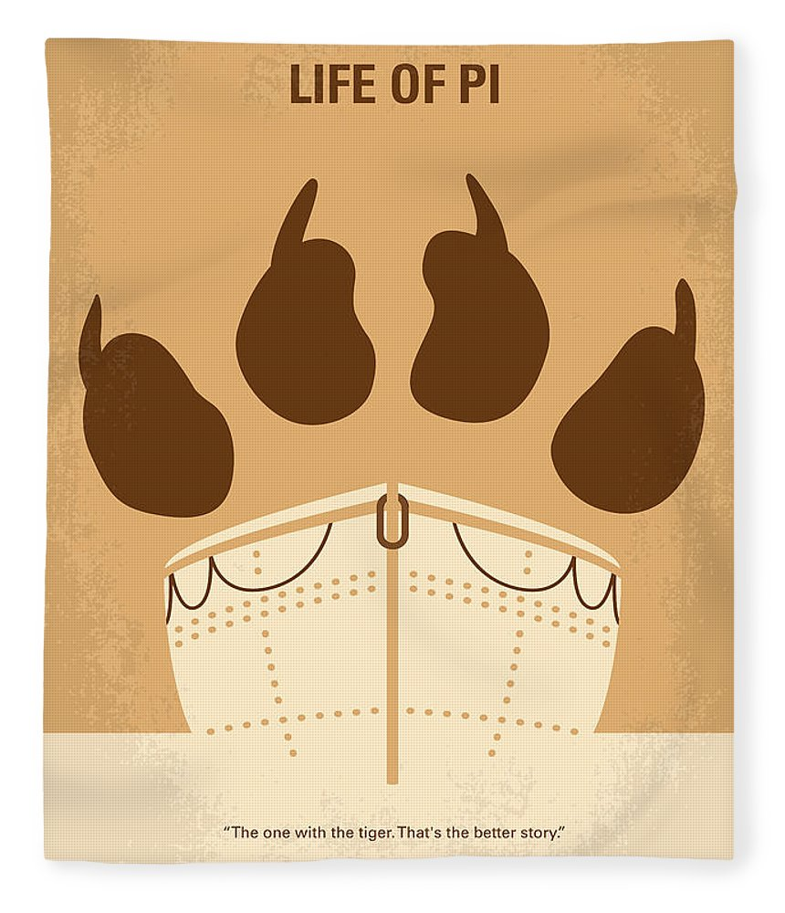 Life Fleece Blanket featuring the digital art No173 My Life Of Pi Minimal Movie Poster by Chungkong Art