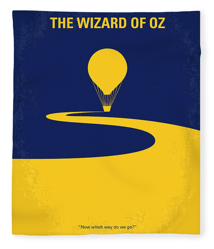 Wizard Fleece Blanket featuring the digital art No177 My Wizard Of Oz Minimal Movie Poster by Chungkong Art