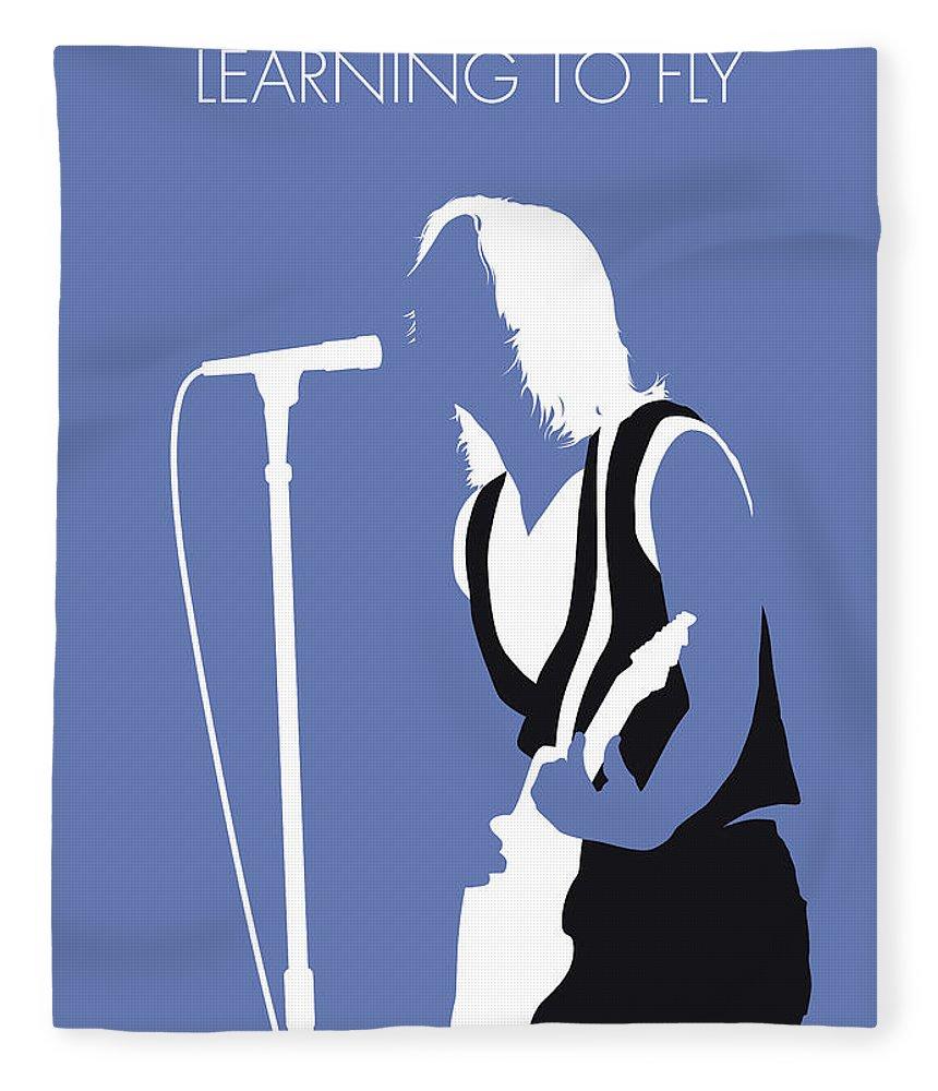 Tom Fleece Blanket featuring the digital art No178 My Tom Petty Minimal Music Poster by Chungkong Art