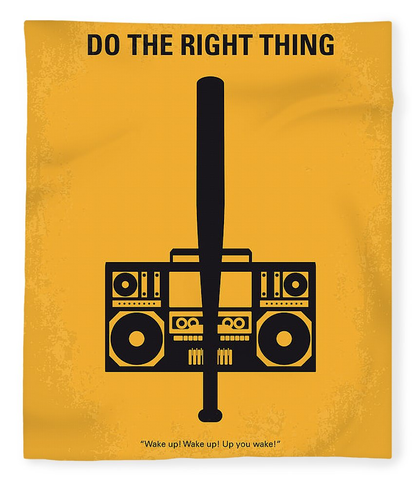 Do The Right Thing Fleece Blanket featuring the digital art No179 My Do The Right Thing Minimal Movie Poster by Chungkong Art