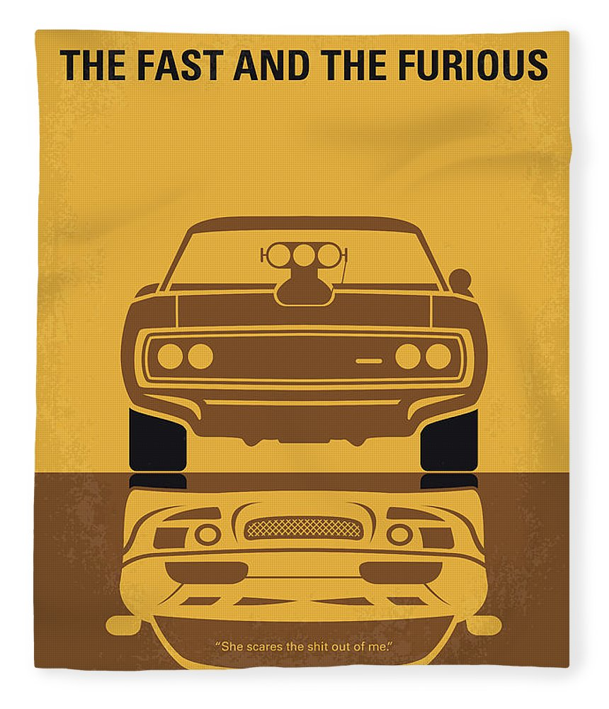Fast Fleece Blanket featuring the digital art No207 My The Fast And The Furious Minimal Movie Poster by Chungkong Art
