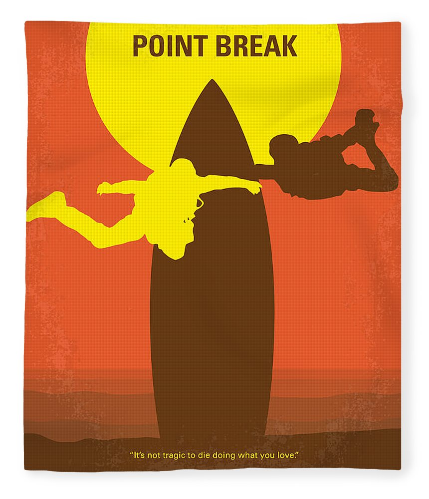 Point Fleece Blanket featuring the digital art No455 My Point Break Minimal Movie Poster by Chungkong Art