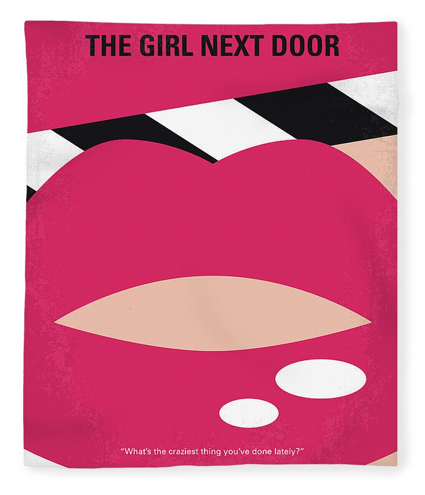 Girl Fleece Blanket featuring the digital art No670 My The Girl Next Door Minimal Movie Poster by Chungkong Art