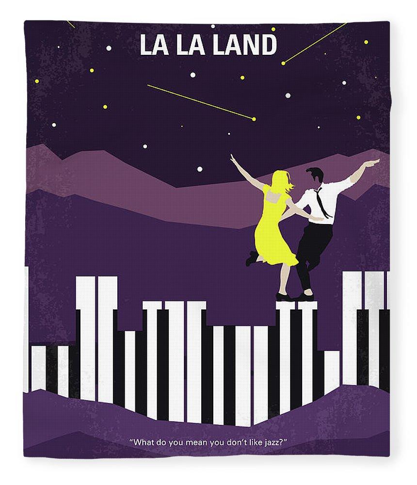La Fleece Blanket featuring the digital art No756 My La La Land minimal movie poster by Chungkong Art
