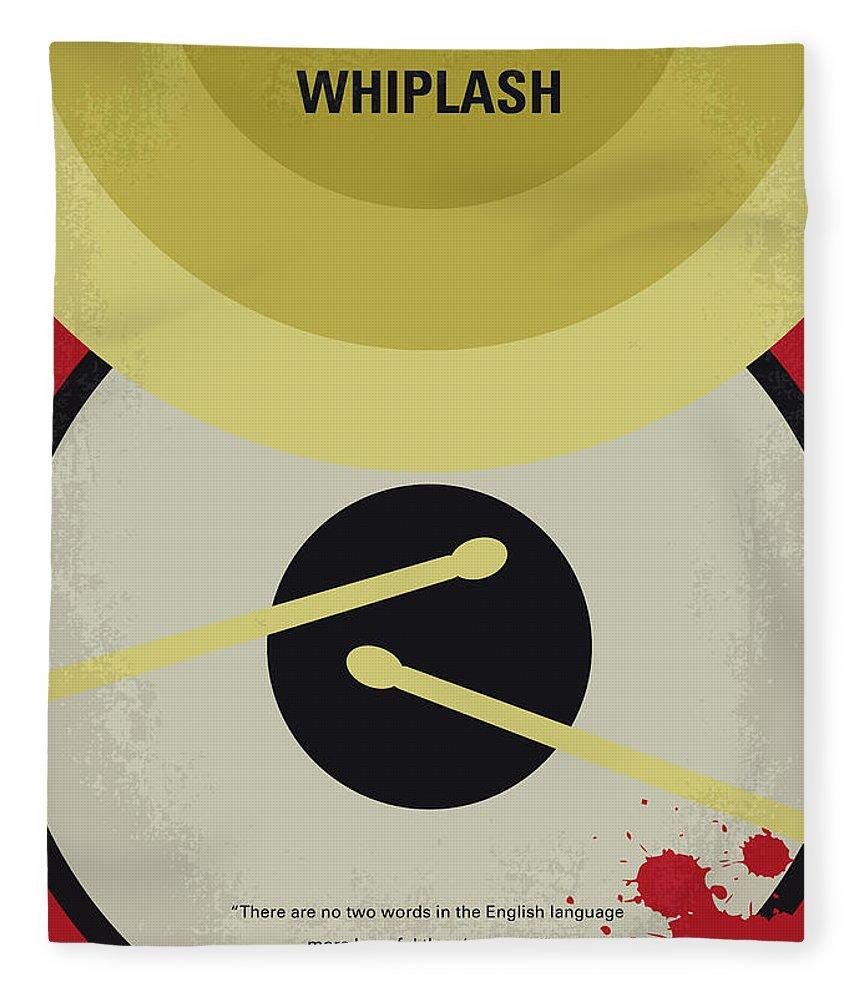 Whiplash Fleece Blanket featuring the digital art No761 My Whiplash Minimal Movie Poster by Chungkong Art