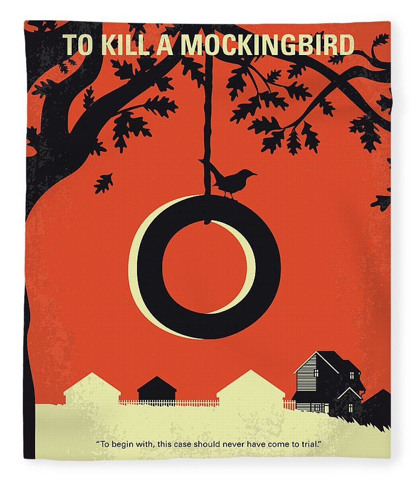 To Fleece Blanket featuring the digital art No844 My To Kill A Mockingbird Minimal Movie Poster by Chungkong Art