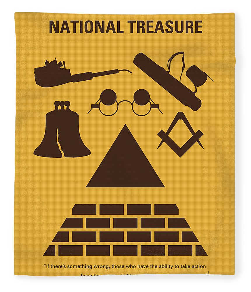 National Fleece Blanket featuring the digital art No887 My National Treasure Minimal Movie Poster by Chungkong Art