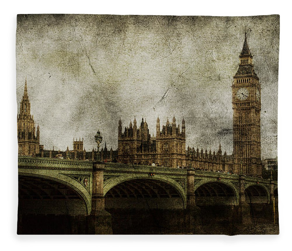 London Fleece Blanket featuring the photograph Noble Attributes by Andrew Paranavitana