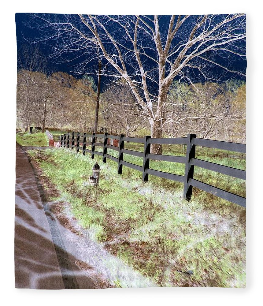 Tree Fleece Blanket featuring the photograph Not So White by Charleen Treasures