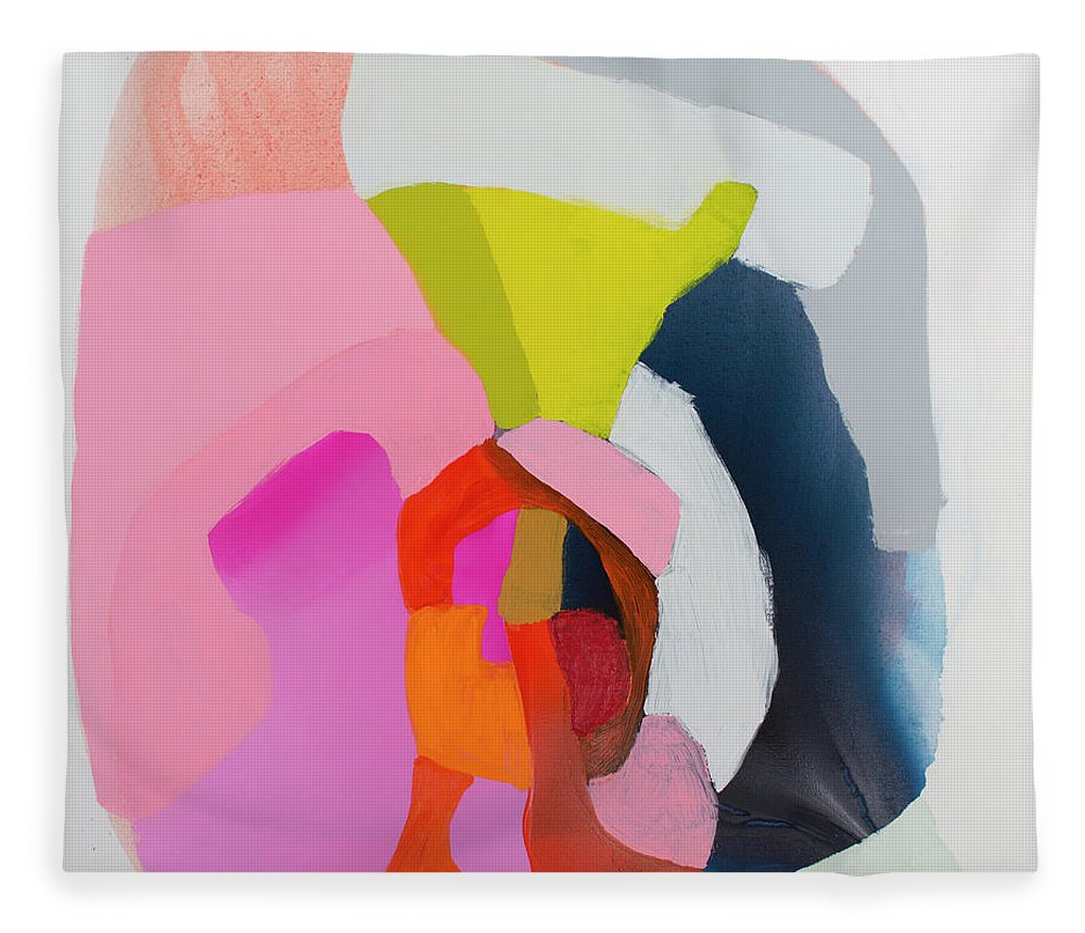 Abstract Fleece Blanket featuring the painting Note To Self by Claire Desjardins
