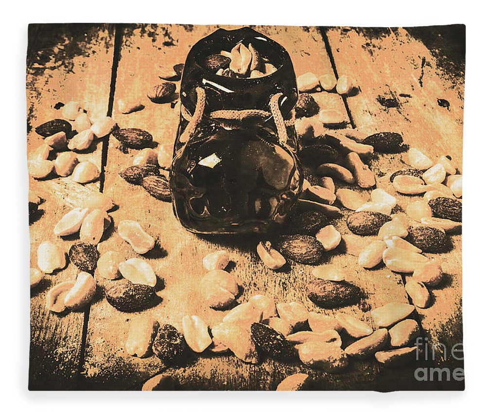 Vintage Fleece Blanket featuring the photograph Nuts About Vintage Still Life Art by Jorgo Photography - Wall Art Gallery