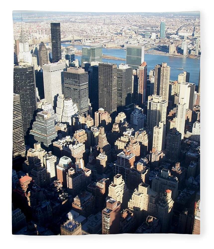 Nyc Fleece Blanket featuring the photograph Nyc 4 by Anita Burgermeister