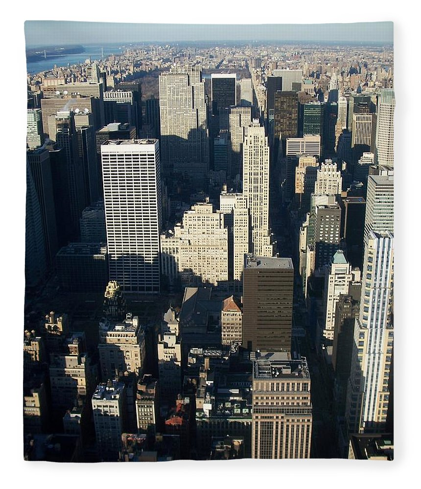 Nyc Fleece Blanket featuring the photograph Nyc 5 by Anita Burgermeister