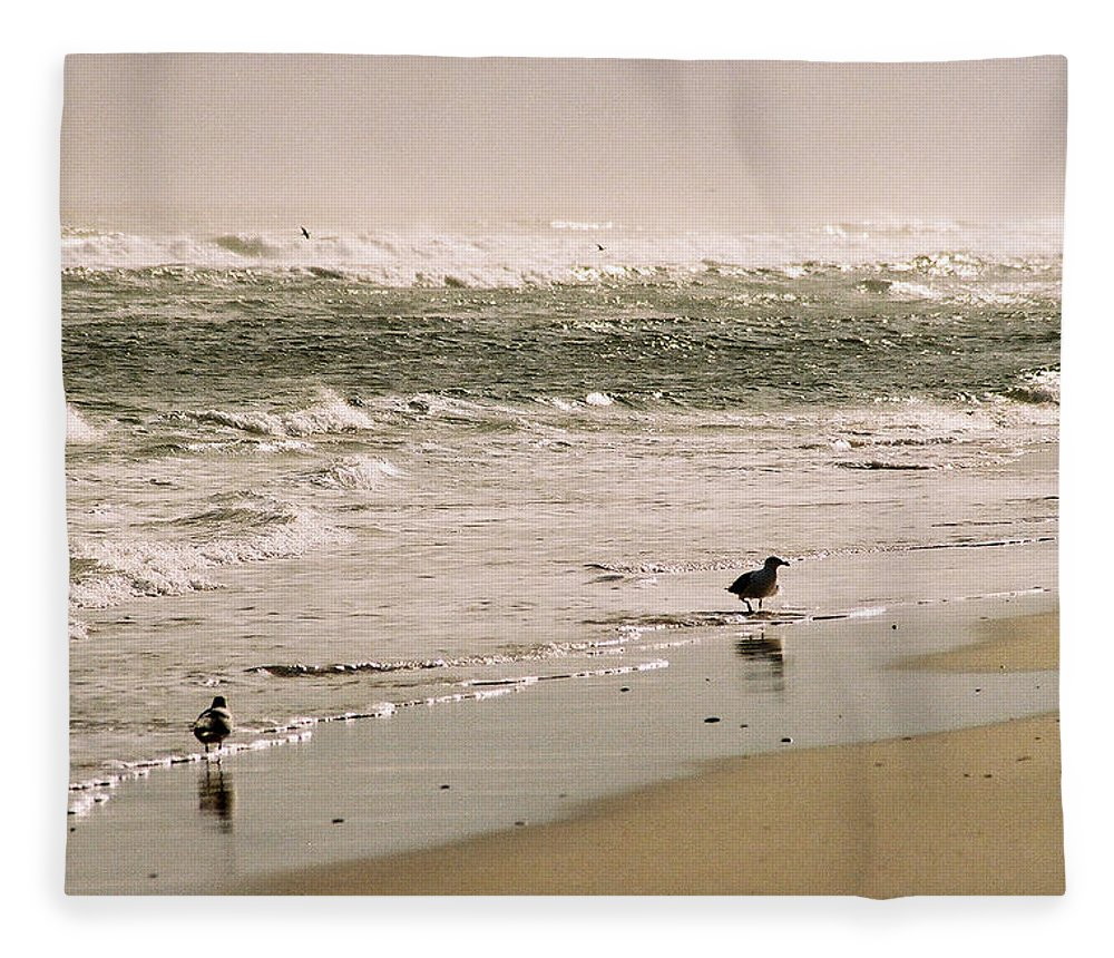 Seascape Fleece Blanket featuring the photograph Ocean Edge by Steve Karol