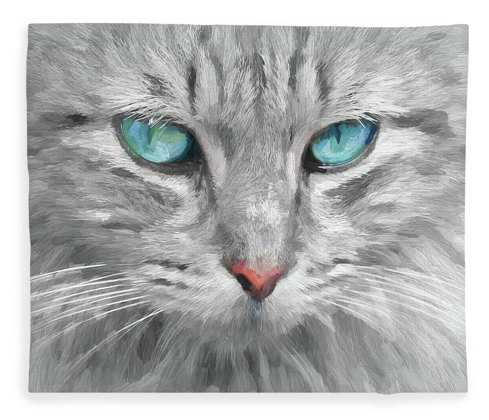 Abstract Fleece Blanket featuring the photograph Ol' Blue Eyes by Robert Kinser