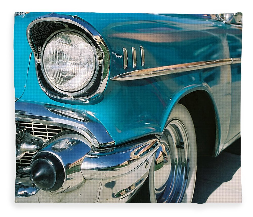 Chevy Fleece Blanket featuring the photograph Old Chevy by Steve Karol