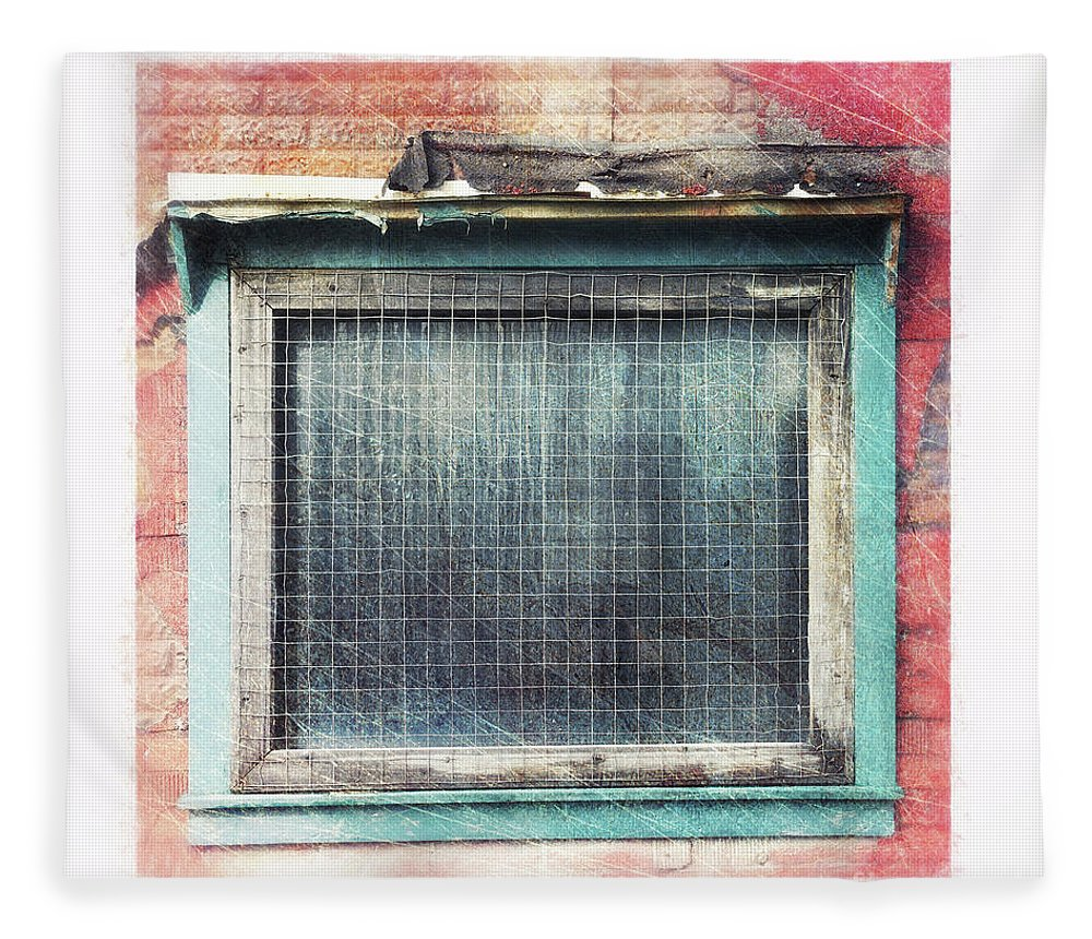 Window Fleece Blanket featuring the photograph Old Window by Priska Wettstein