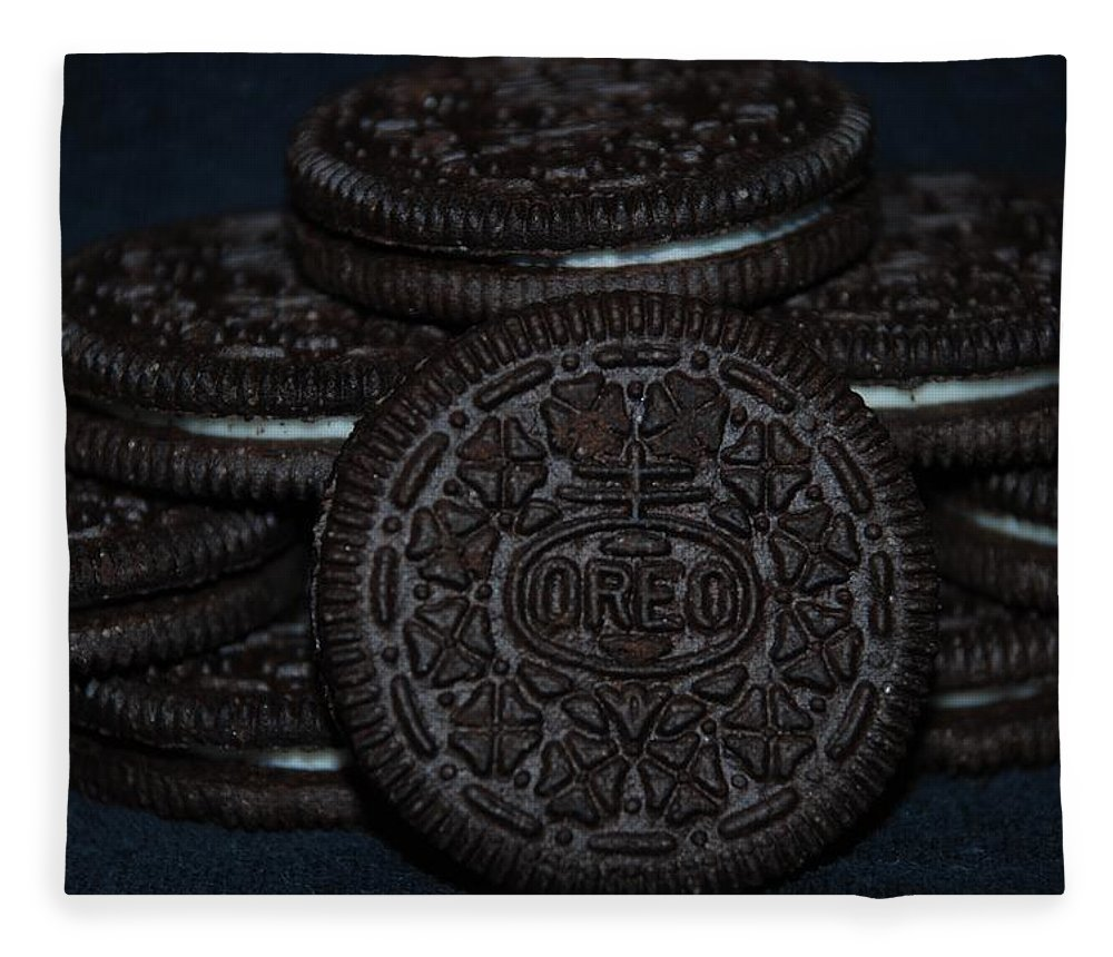 Oreo Fleece Blanket featuring the photograph Oreo Cookies by Rob Hans