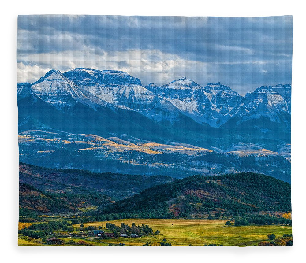 Landscape Fleece Blanket featuring the photograph Outside of Ridgway by Alana Thrower