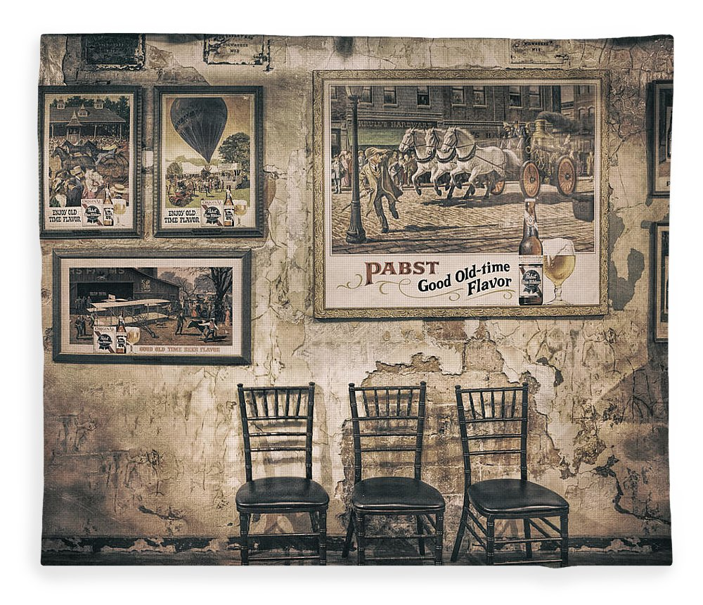 Scott Norris Photography Fleece Blanket featuring the photograph Pabst Good Old Time Flavor by Scott Norris