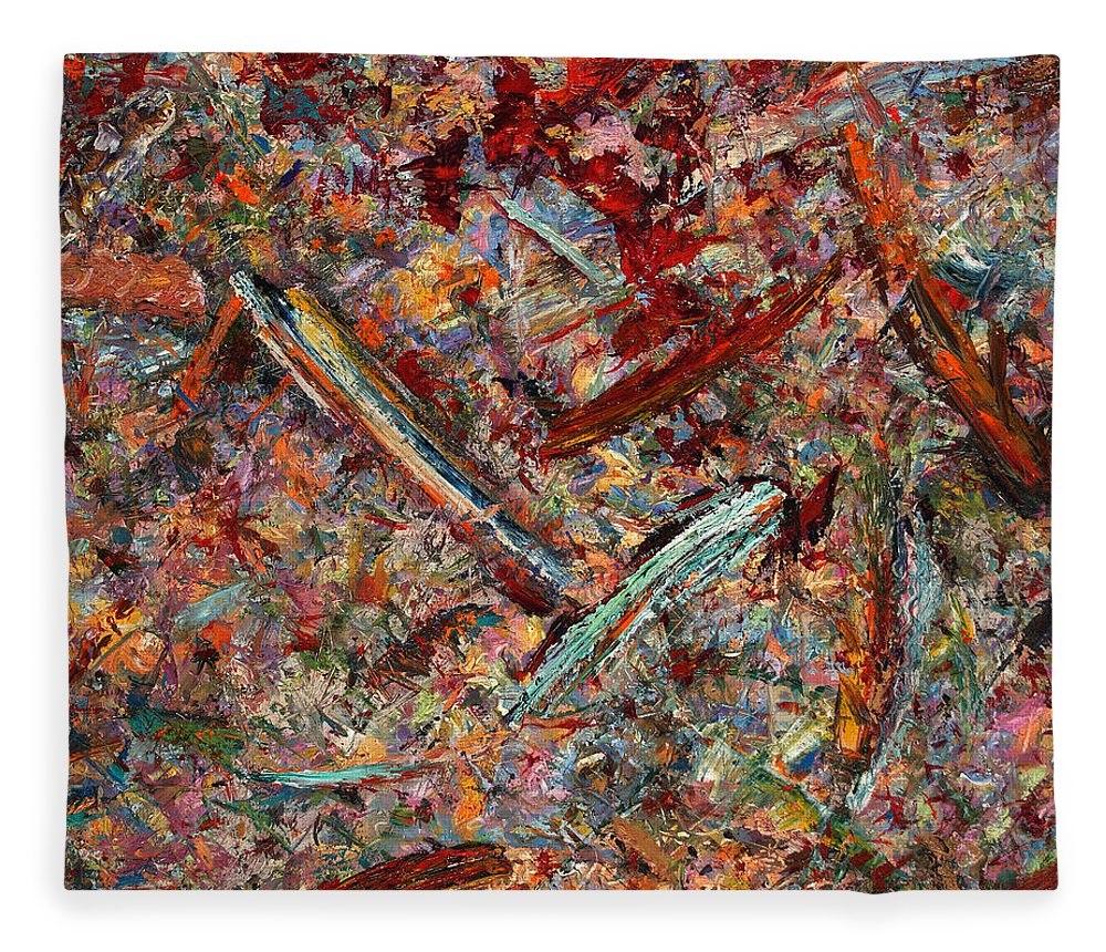 Abstract Fleece Blanket featuring the painting Paint Number 30 by James W Johnson