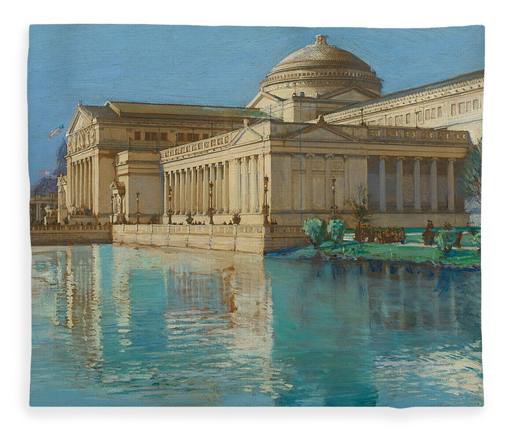 Childe Fleece Blanket featuring the painting Palace Of Fine Arts by Childe Hassam