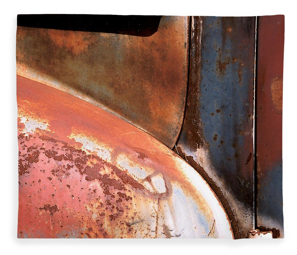 Abstract Fleece Blanket featuring the photograph Panel from Ole Bill by Steve Karol