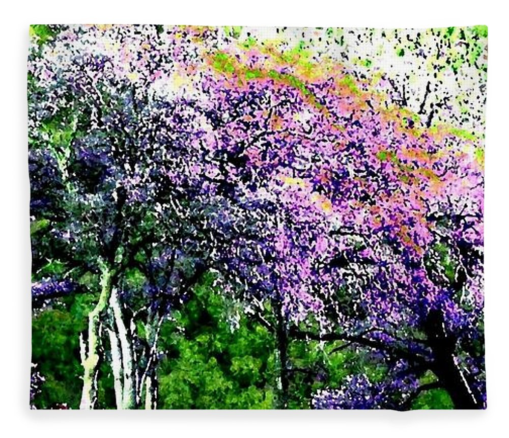 Photo Design Fleece Blanket featuring the digital art Paradise Hills by Will Borden