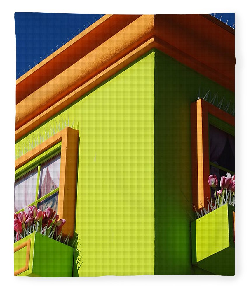Sky Fleece Blanket featuring the photograph Pastle Corners by Rob Hans