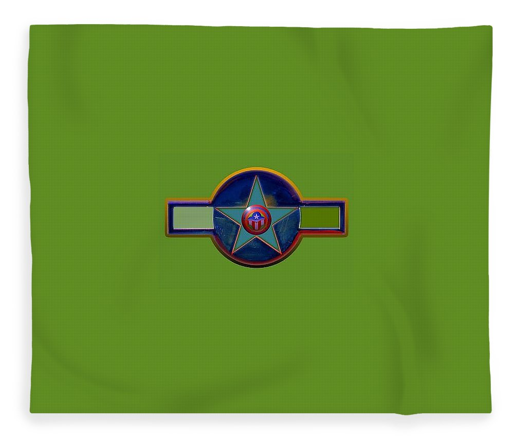 Usaaf Insignia Fleece Blanket featuring the digital art Pax Americana Decal by Charles Stuart