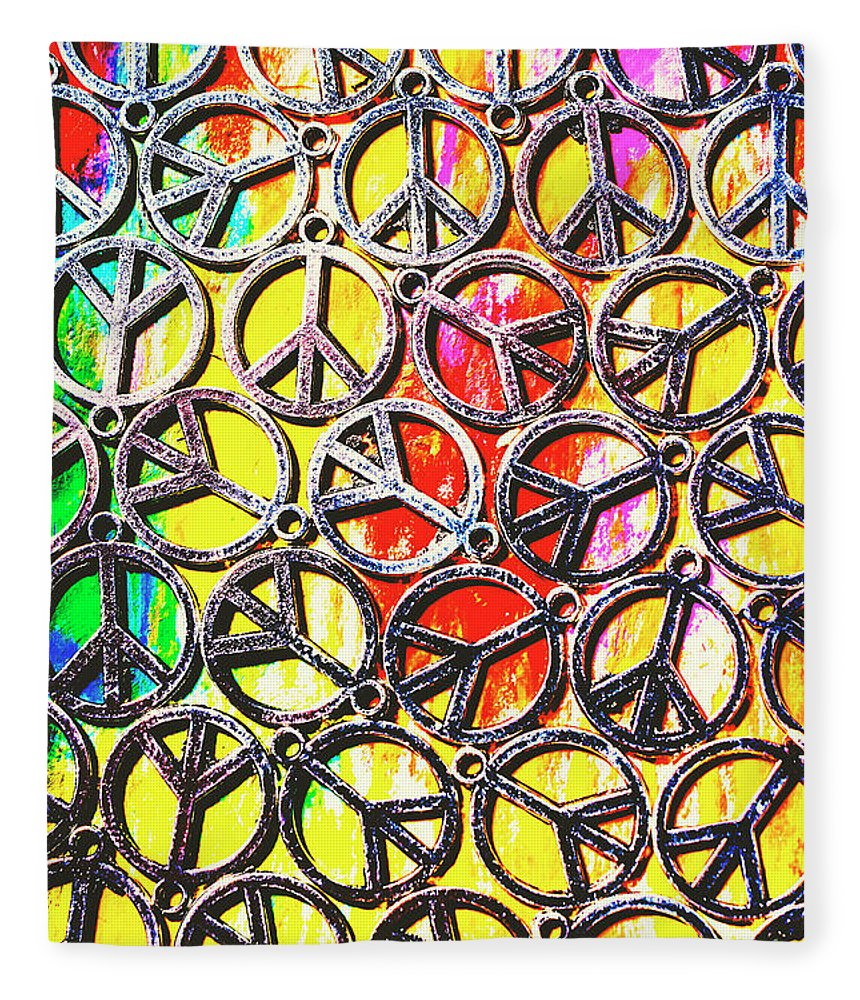 Peace Fleece Blanket featuring the photograph Peace In All Colours by Jorgo Photography - Wall Art Gallery