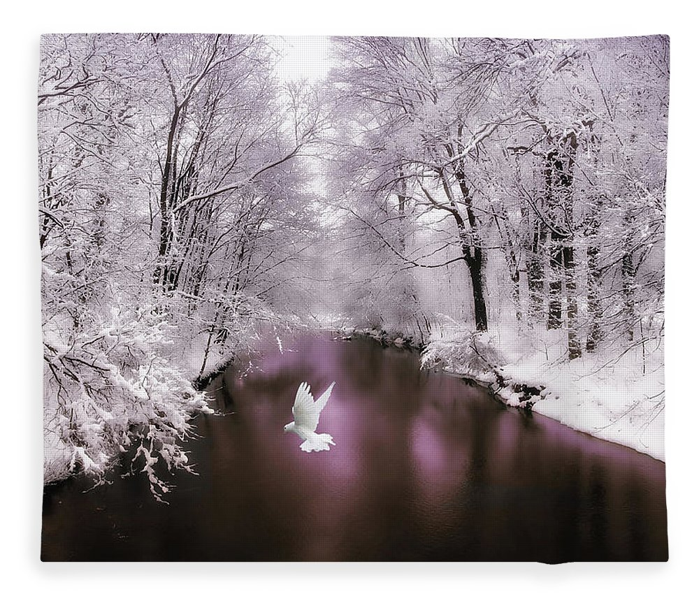 Snow Fleece Blanket featuring the photograph Peace On Earth  by Jessica Jenney