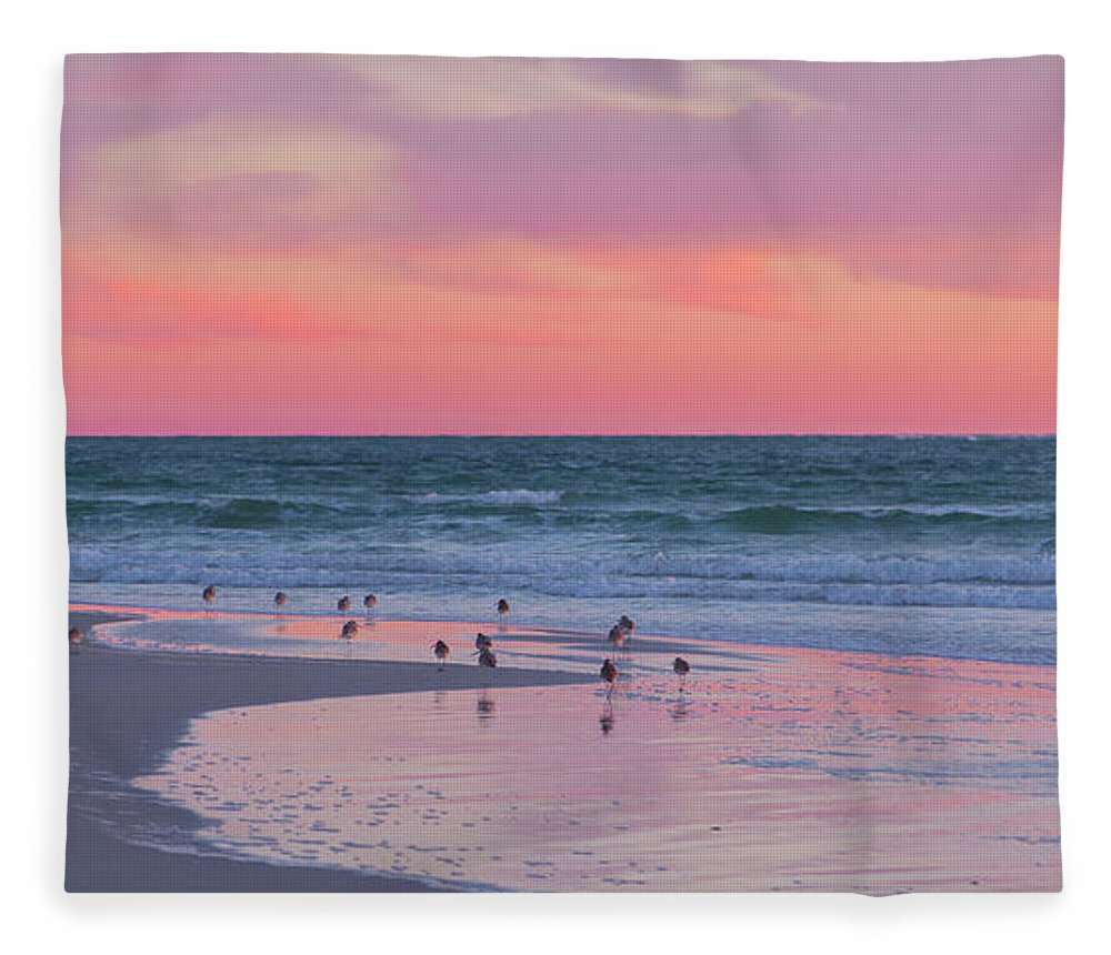 Sunset Fleece Blanket featuring the photograph Peaceful Witnesses by Betsy Knapp