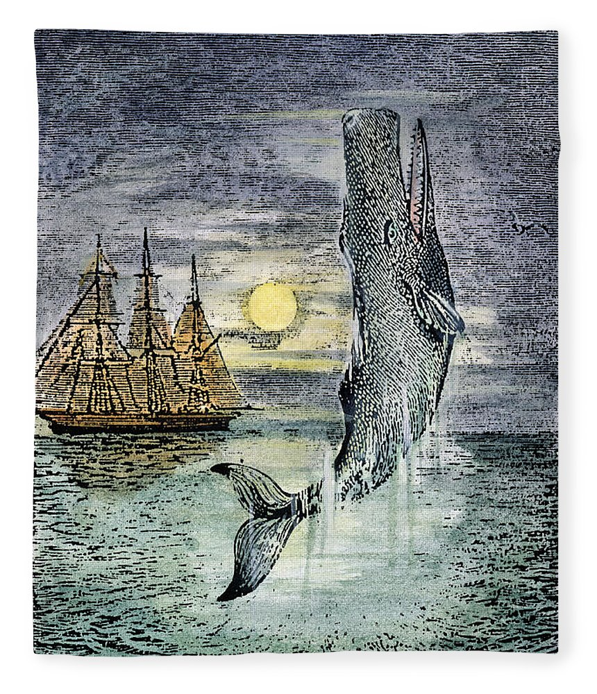 19th Century Fleece Blanket featuring the photograph Pehe Nu-e: Moby Dick by Granger
