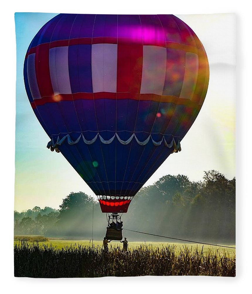 Fleece Blanket featuring the photograph Perfect Landing by Kendall McKernon