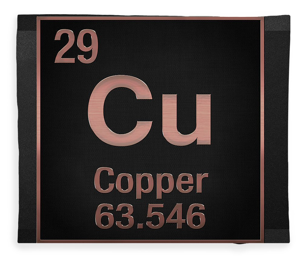 Periodic Table Of Elements Copper Cu Copper On Black Fleece