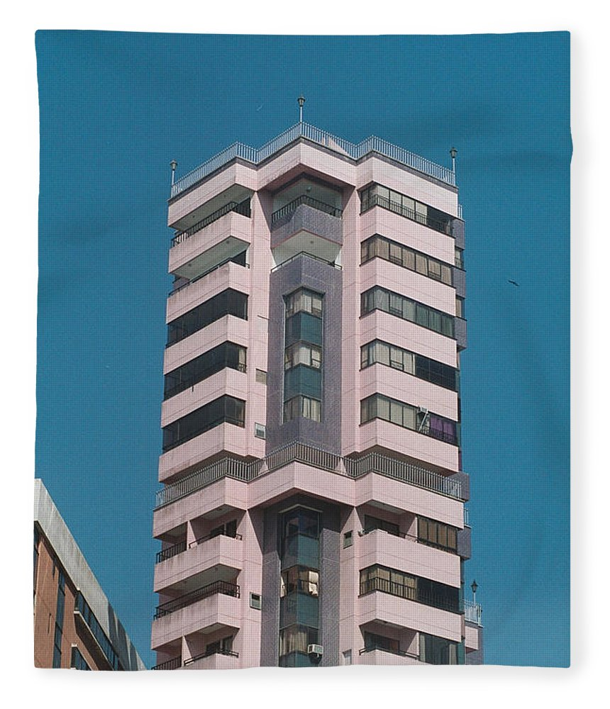 Girl Fleece Blanket featuring the photograph Pink Tower by David Cardona