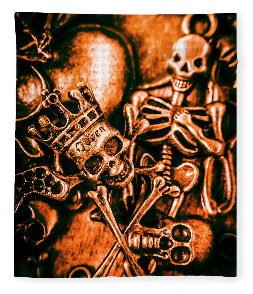 Jewelry Fleece Blanket featuring the photograph Pirates Treasure Box by Jorgo Photography - Wall Art Gallery