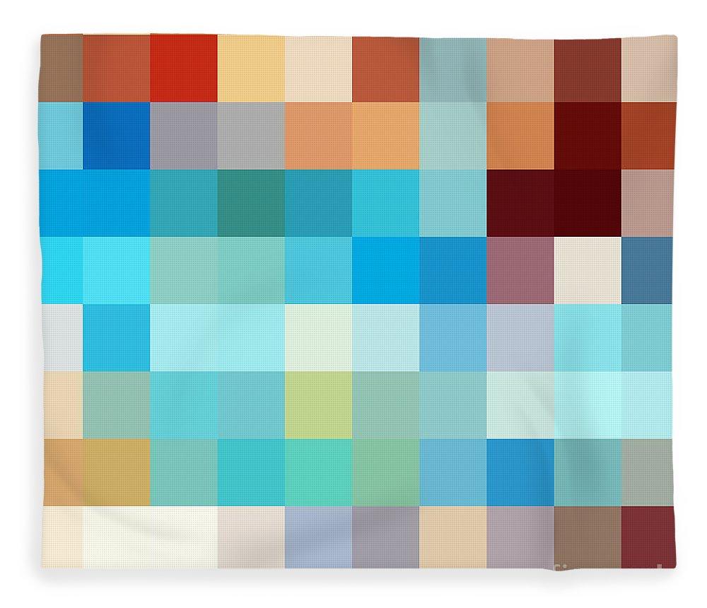Pixel Fleece Blanket featuring the photograph Pixel Art 1 by Delphimages Photo Creations