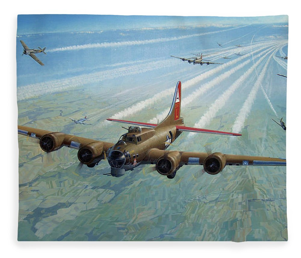 Fleece Blanket featuring the painting Plane by Test