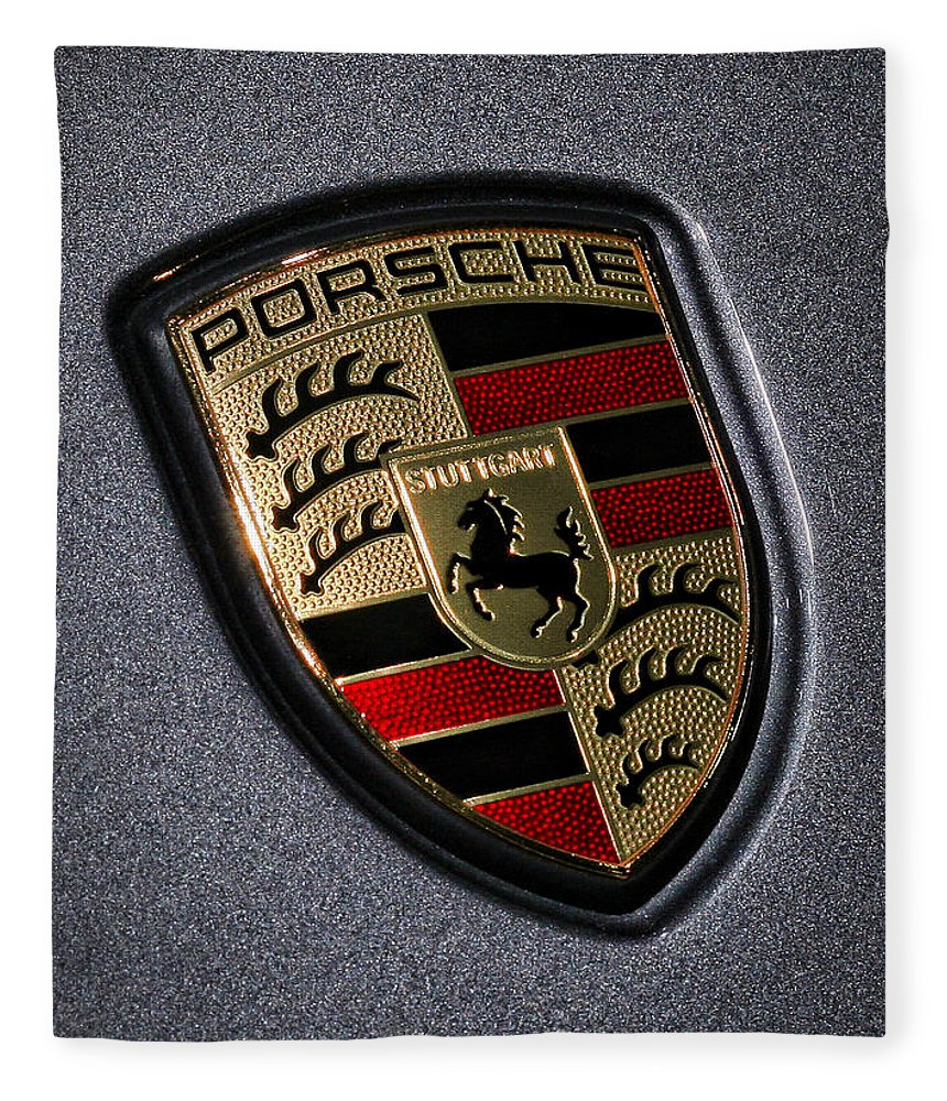 Porsche Fleece Blanket featuring the photograph Porsche by Gordon Dean II