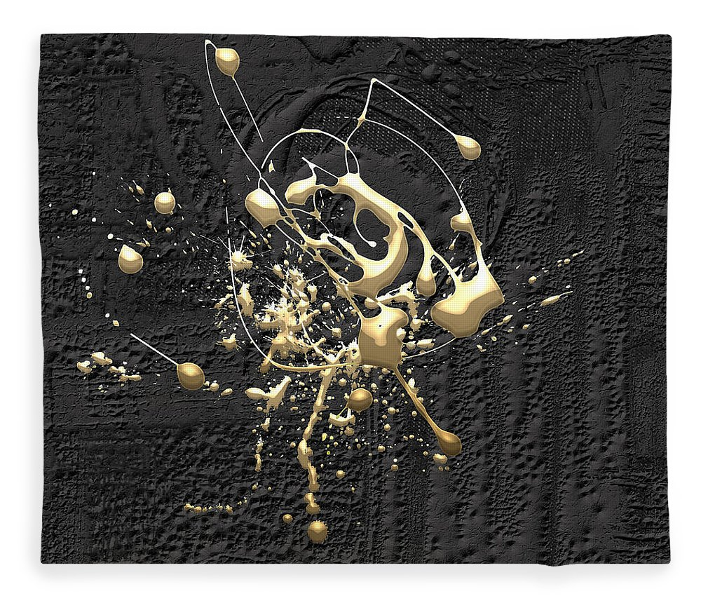 �the Abstracts� Collection By Serge Averbukh Fleece Blanket featuring the photograph Precious Splashes - Set of 4 by Serge Averbukh