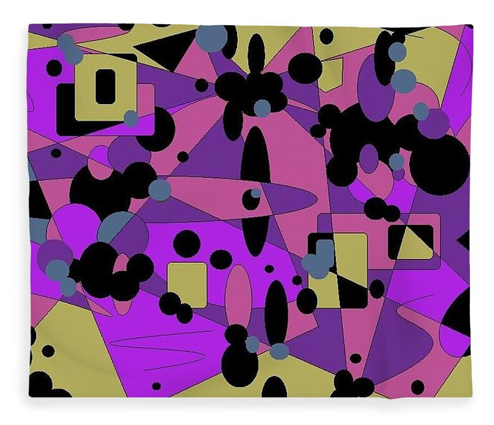 Digital Abstract Fleece Blanket featuring the digital art Pretty Picture by Jordana Sands